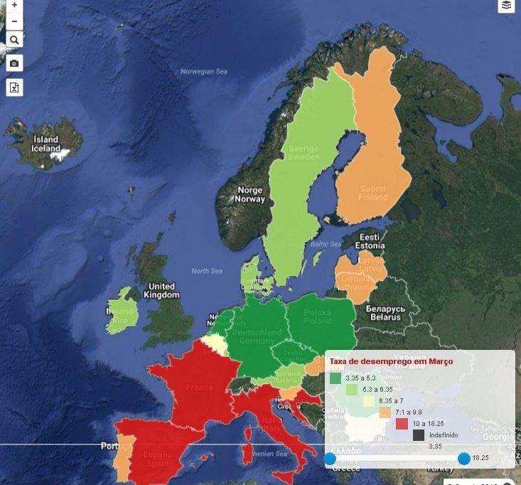 Mapa Desemprego - Morar em Portugal